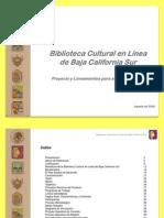 090815 Proyecto de Biblioteca Cultural en Linea Para El Estado de Baja California Sur