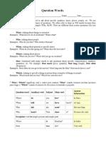 Question Words - Guia Grammar