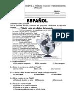EXAMEN SEMESTRAL DE SEGUNDO GRADO PRIMARIA