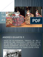EFEMERIDES TABASQUEÑAS
