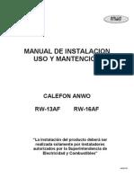 Manual Usuario RW 13_16 AE