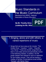 Music Standards in the Music Curriculum