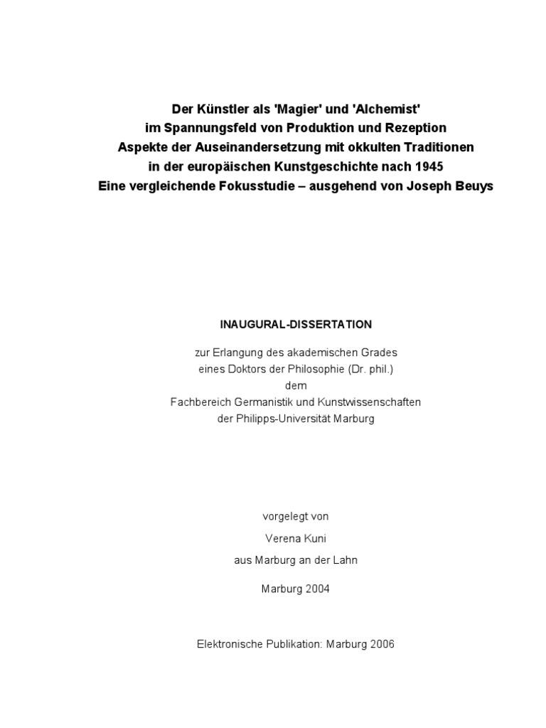 Verena Kuni - Disseration