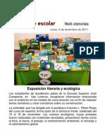 Exposición literaria y ecológica