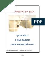 BROCHURA - O QUE É UM TERAPEUTA DA FALA