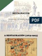 RESTAURACIÓN e ditadura