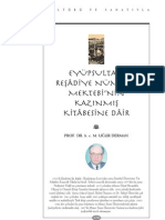 Eyüp Sultan Reşadiye Numüne  Mektebinin Kazınmış Kitabesi-Uğur Derman