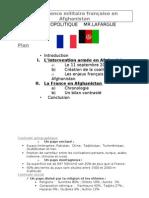 La présence militaire française en Afghanistan