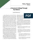 PPI - Universal Access to College Through Tax Reform - Weinstein (2003)