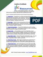 Cr8v Google Tips Sheet