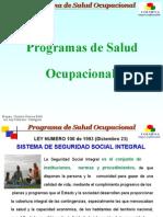 """Programa de Salud Ocupacional ....    """"ponzio"""""""