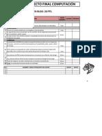 Checklist Entrega Proyecto Final Computacion