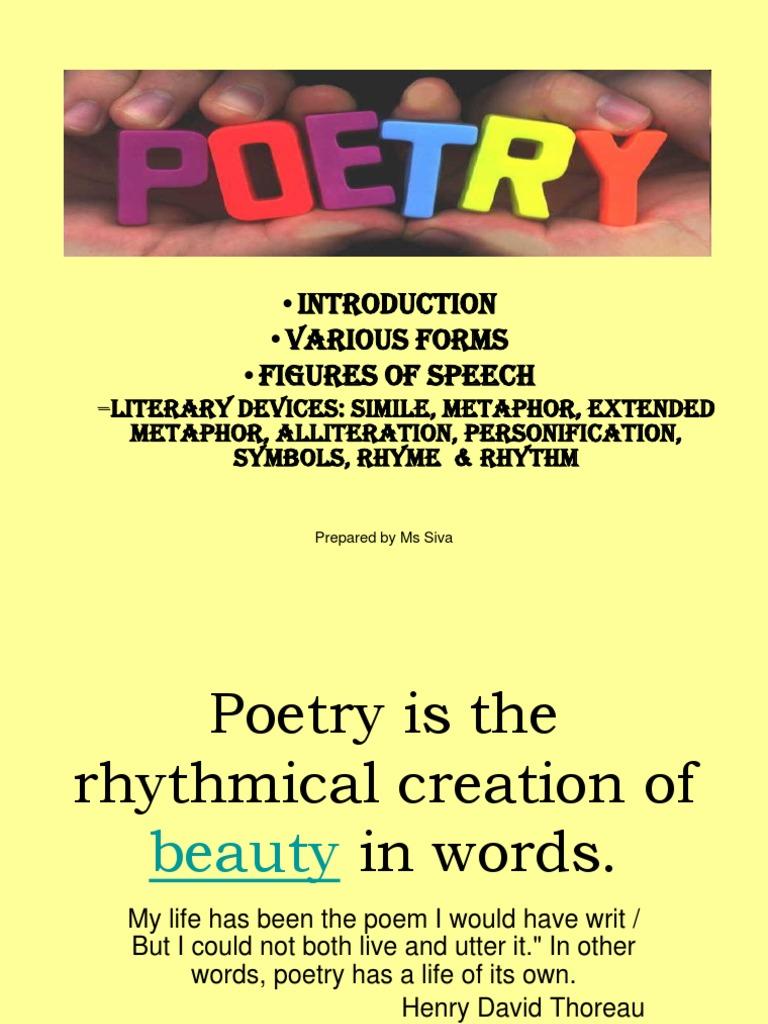 Poetry Metaphor Poetry