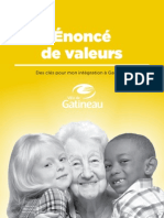 Énoncé de valeurs, des clés pour mon intégration à Gatineau