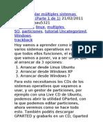 Como instalar múltiples sistemas operativos
