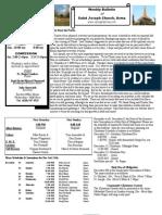 St. Joseph's December 4, 2011 Bulletin