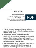 Old v. New Terrorism