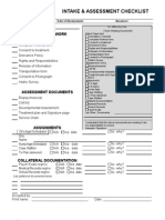 assessment document checklist