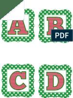 Green Polka Christmas Letters