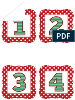 Red Polka Christmas Numbers 1-50