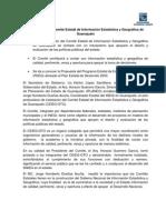 Boletín de Prensa - Se constituye el Comité Estatal de Información Estadística y Geográfica de Guanajuato