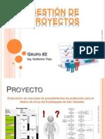 Presentación, Gestión de Proyectos