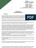 Ethics Code & Complaints Procedure 2008