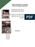 Recuperacion Memoria Historica Lucha de Comunidades Urbanas El Salvador. Sistematizacion Experiencias CCM 2005