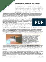 'Coldheat Classic Soldering Iron' Summary and Verdict