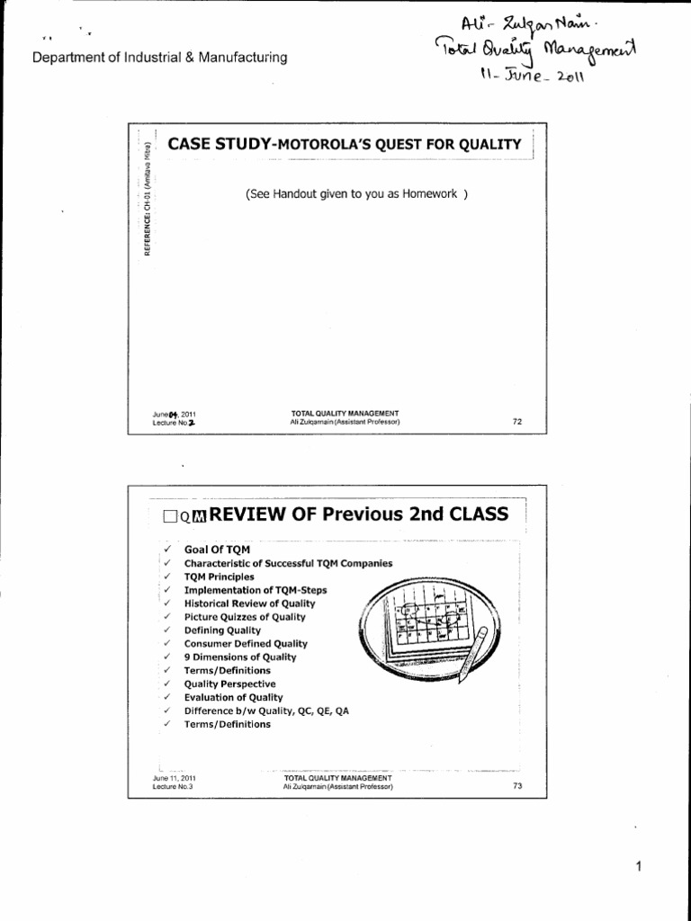 tqm case study motorola