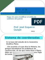 Introducción  la Geometría Analítica Presentacion