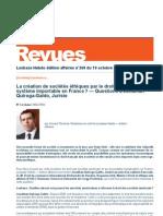 Droit des sociétés - Interview de Jonathan Quiroga-Galdo pour Lexbase Hebdo édition affaires - La création de sociétés éthiques par le droit américain