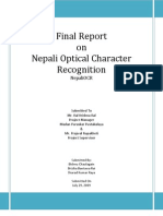 Towards Building a Nepali OCR General Report