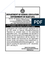 Haryana School Education Recruitment
