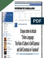 Facebook Ensayo