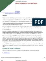 Chennai Telephones-Transfer Procedure