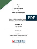 A Study on Profit Maximization