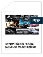 Pricing Strategy Report_Group 5_Maruti Baleno