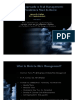 A Holistic Approach to Risk Management