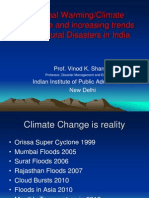 Global Warming and Increasing Trends of Natural Disasters in India