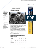 Standard Pipe Sizes