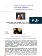 Pogrom w Sadzie Rejonowym w Katowicach, zapowiedziany Amargedon. 20111205 Adam Słomka, Kazimierz Switoń, Stefan Kosiewski