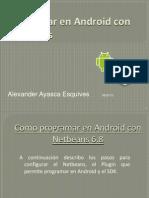 Programar en Android Con Netbeans