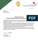 SEL Ermittlungen gegen LR Laimer - Landtagsanfrage und Antwort