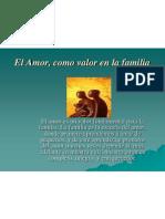 Amor Valor de La Familia