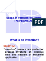 Inventions Not Patent Able