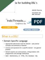 Using Scala for Building DSLs - Abhijit Sharma