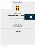 (eBook Philosophy) Jacques Maritain - On the Church of Christ