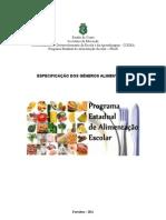 agricultura familiarEspecificações de compras - 2011-1