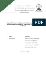 Proyecto (Proponer Estrategias Pedagógicas que Contribuyan a la Disminución de la Desnutrición)